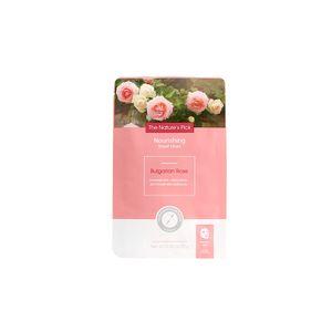 Mascarilla facial nutritiva, rosa búlgara, Chica