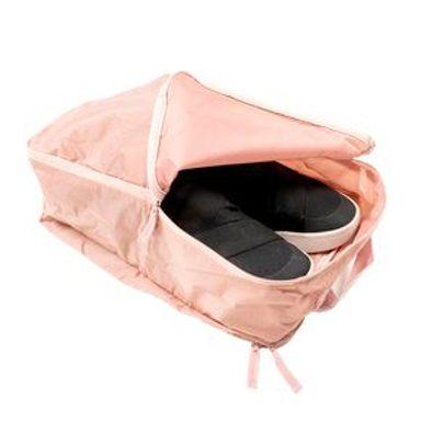 Organizador de viaje para calzado, Rosa, Mediano