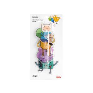 Paquete De Ganchos Adventure Time Adhesivos De Colores 4 Piezas