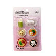 Paquete de gomas en forma de comida, Multicolor, Chico