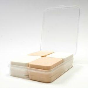 Paquete de esponjas para maquillaje, Beige/blanco, Mediano