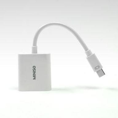 Cable Adaptador  Mini Dp A Vga Blanco 10 cm