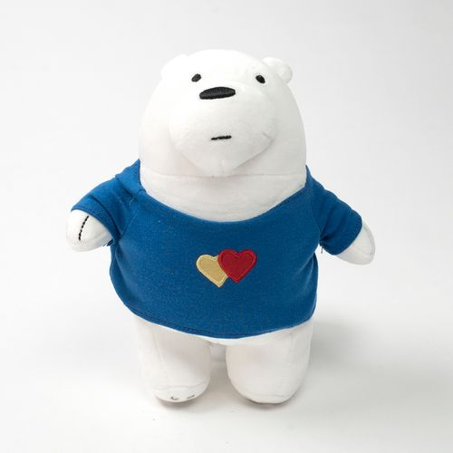 Peluche de Polar con ropa, Multicolor, Mediano - we bare bears