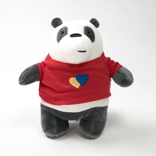 Peluche de Panda con ropa, Multicolor, Mediano - we bare bears