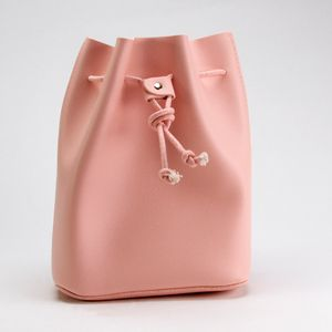 Bolsa Mini Tipo Bucket, Sencilla Rosa