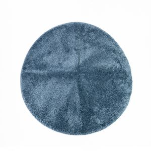 Tapete Solid Color Series Redondo Azul 60 cm