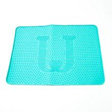 Tapete de silicón para mascotas, Azul, Mediano