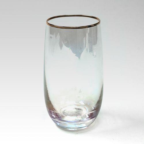 Vaso largo de vidrio , Transparente, Mediano