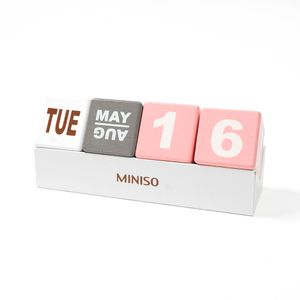 Calendario de madera, Multicolor, Mediano