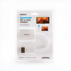 Cable DP a adaptador VGA , Blanco, Chico
