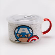 Taza de cerámica, Capitán América, Multicolor, Grande