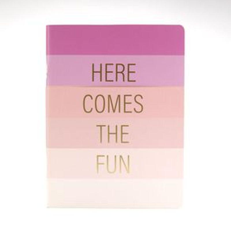 Libreta-de-Notas-de-Pasta-Dura-Here-Comes-The-Fun-Rosa-1-2284