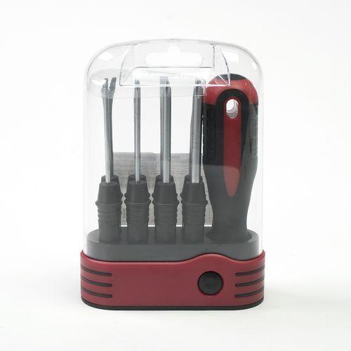 Set de destornilladores, Rojo/Negro, Mediano