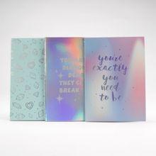 Paquete de libreta de notas, Multicolor, Mediano