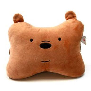 Almohada We Bare Bears Pardo En Forma Hueso