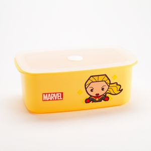 Contenedor para alimentos, Capitana Marvel, Amarillo, Grande