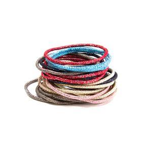 Paquete de ligas para cabello, Multicolor, Chico