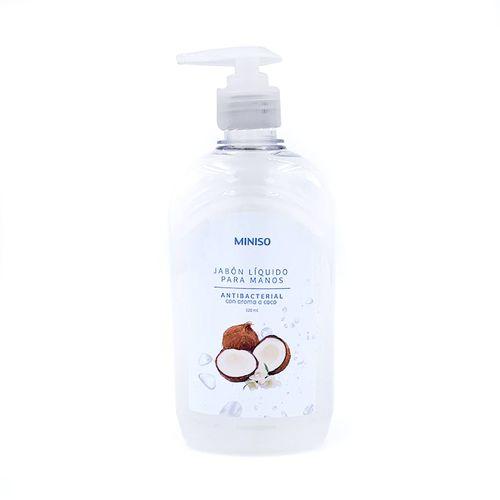 Jabón gel antibacterial para manos, fragancia coco, en 520ml con aplicador