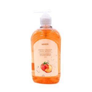 Jabón Líquido Antibacterial Para Manos 520 ml  Con Aroma A Durazno