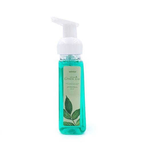 Jabón espuma antibacterial para manos, fragancia té verde, en 270ml con válvula