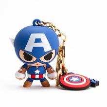 Llavero 3D de Capitán América, Multicolor, Chico
