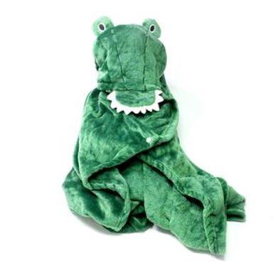 Manta Con Capucha Cocodrilo Verde 26x7 cm