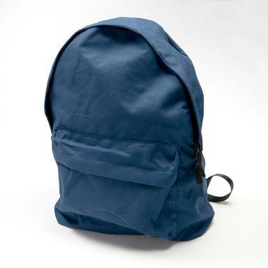 Mochila Clásica Bolsa Frontal Azul Marino