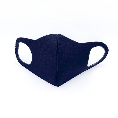 Cubrebocas tela/malla lavable negra (3 pzs)