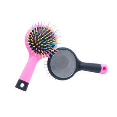 Cepillo Para Cabello Puntas De Colores De Plástico Rosa