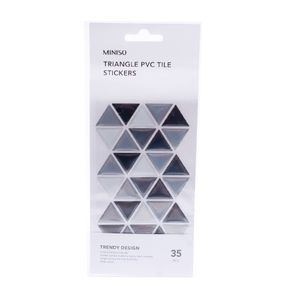 Planilla De Sticker Mosaico Triangular