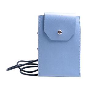 Funda Tipo Bolso Vertical Para Celular Con Borla (Azul) 12*2*18Cm