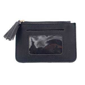 Monedero tipo cartera, piel sintético, disponible en: negro, rosa y azul