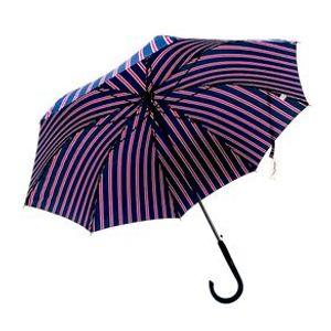 Paraguas Largo Con Rayas, Azul Marino