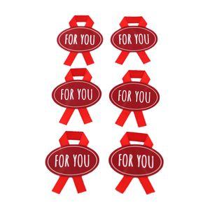 Paquete De Stickers For You Para Regalos Rojo 6 Piezas