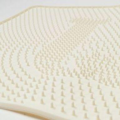 Tapete Para Mascotas Lavable Antideslizante Silicón Beige 53x38 cm