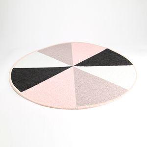 Tapete Geometrical Series Redondo  Rosa 60 cm