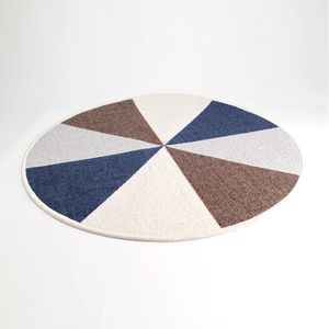 Tapete Geometrical Series Redondo  Azul 60 cm