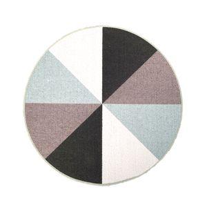 Tapete Geometrical Series Redondo  Verde 60 cm