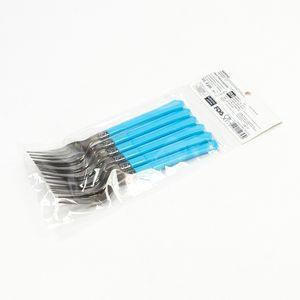 Paquete de tenedores desechables, Multicolor, Mediano