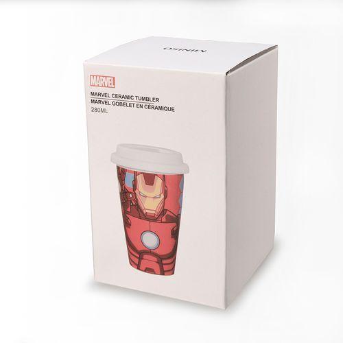 Termo de cerámica, Iron Man, Rojo, Mediano