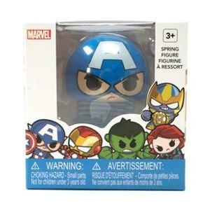 Juguete de resorte de Capitán América, Multicolor, Chica