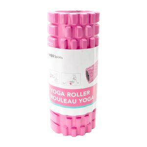 Rodillo De Yoga Para Masaje Corporal Fitness PVC Rosa