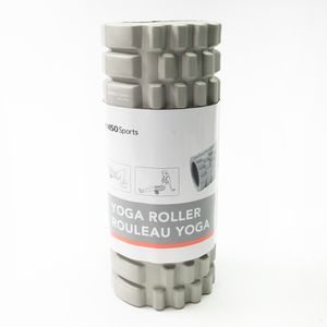Rodillo De Yoga Para Masaje Corporal Fitness PVC Gris