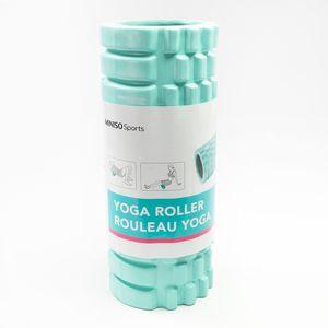 Rodillo De Yoga Para Masaje Corporal Fitness PVC Verde