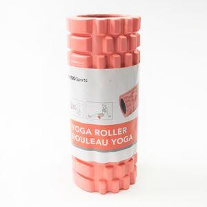 Rodillo De Yoga Para Masaje Corporal Fitness PVC Rojo