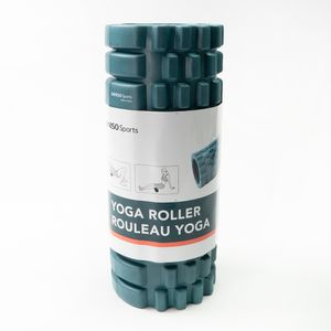 Rodillo De Yoga Para Masaje Corporal Fitness PVC Azul