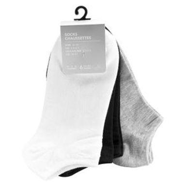 Calcetin Corto Invisible, Color Sólido Para Hombre Antideslizantes Multicolor 6 Pares