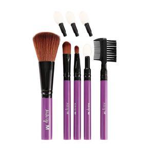 Kit de brochas para maquillaje, Rosa, Mediano