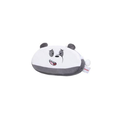Lapicera con cara de Panda, Blanca/negra, Mediana