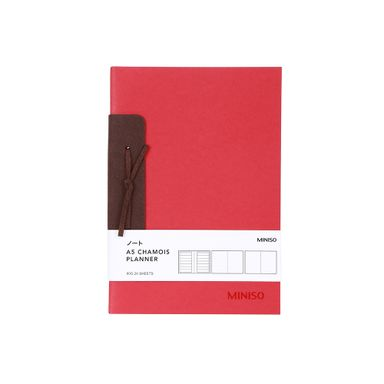 Planificador A5 Con Listón De Gamuza Rojo 26 Hojas